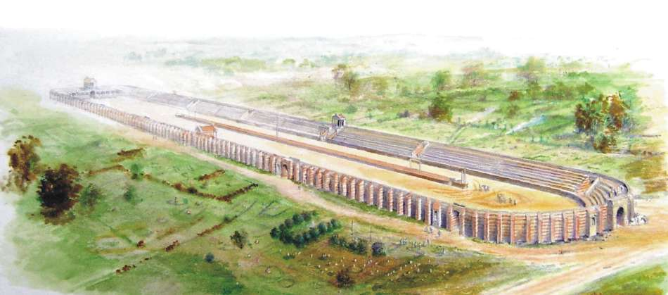 Colchester Roman Circus © Peter Froste and Colchester Archaeological Trust