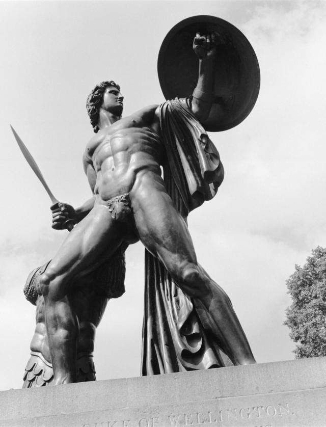 The Statue of Achilles - or the Wellington Monument - in Hyde Park, London