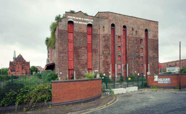 Heaps Rice Mill, Pownall road, Liverpool. Commissioned by Sarah Charlesworth for designation.