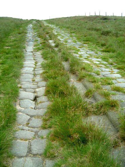 The scheduled Roman road that runs across the Pennine's Blackstone Edge Moor, Yorkshire © Mark Moxon