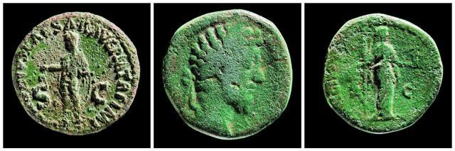 Roman coins excavated at Stonehenge.