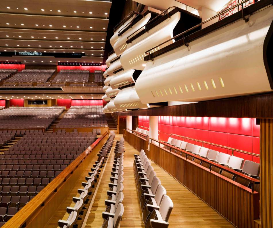 Post War Buildings. Royal Festival Hall, South Bank, London. General view of audiotorium.