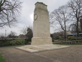 One of eight cenotaphs Lutyens designed. The Regiment suffered terrible casualties in the war - 26,000 out of its 40,000 serving soldiers. This memorial, two-thirds the size of the Cenotaph in Whitehall, commemorates the 6,866 officers and men who died. It was unveiled on 30 July 1921. Photo courtesy of Tim Skelton