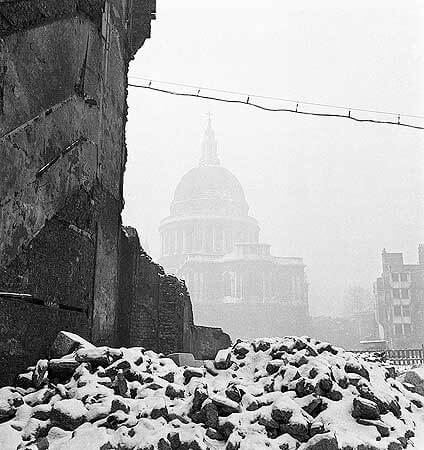 St Paul's and bomb site