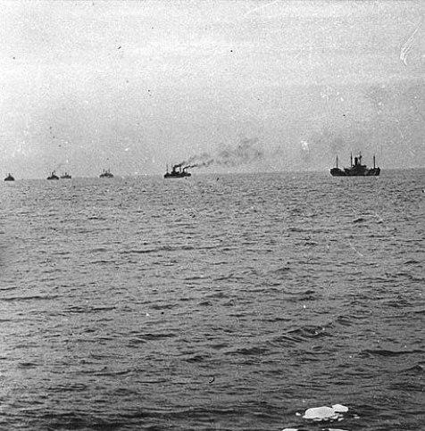 blog-convoy-approaching-brest-1918-c-robert-w-neeser