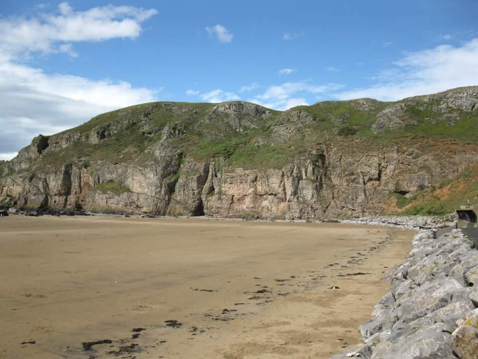 Brean Down from beach