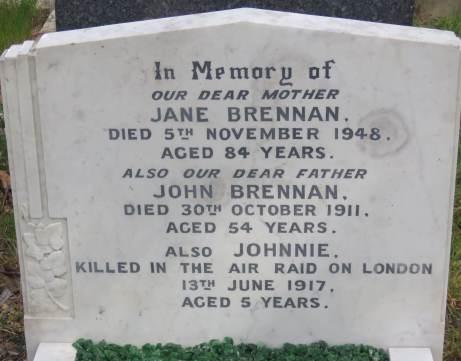 John Brennan's grave after restoration © Stan Kaye.