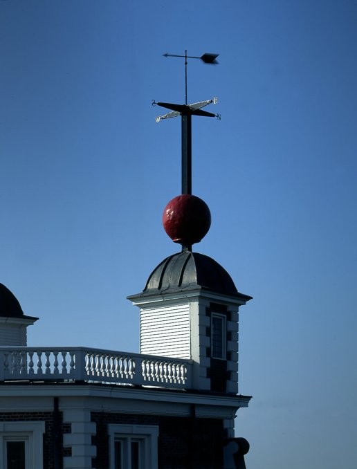 The time ball, first installed on the roof of Flamsteed House in 183