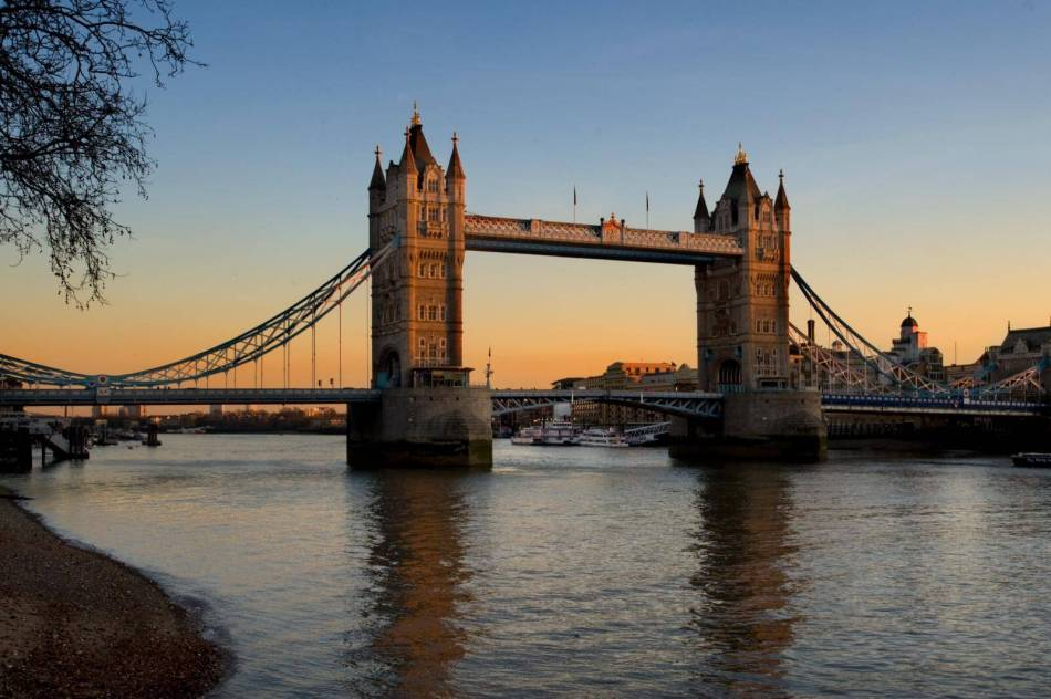 Project;Site; Tower Bridge, view from north west. River Thames, London.