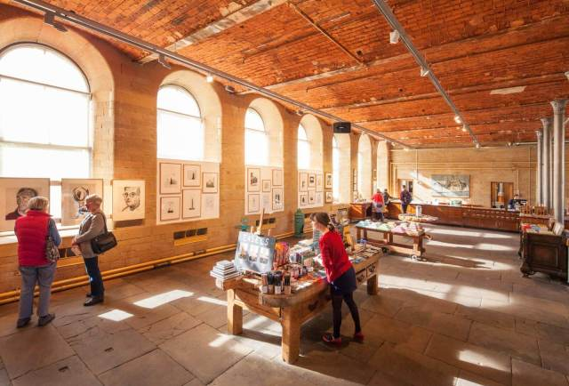 Salts Mill, Saltaire, ground floor bookshop 2016 c Historic England Archive