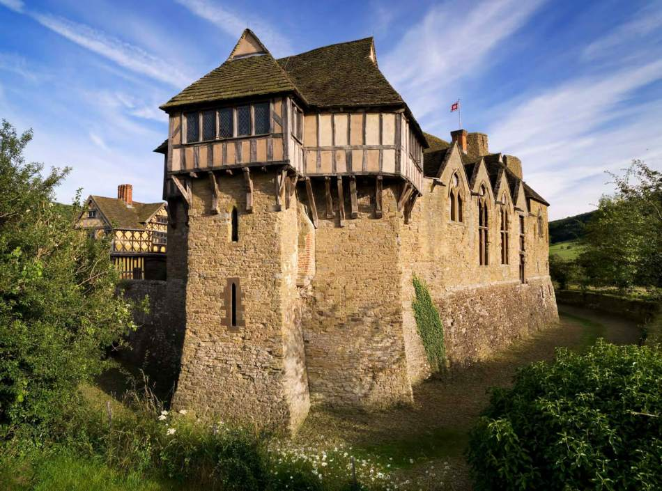 Stokesay Castle near Ludlow was built by a rich merchent in the 13th century