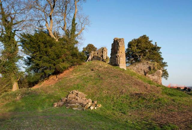 The stone keep and gateway in the Golden Valley in south Herefordshire.