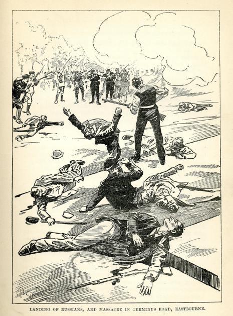 invasion scare cartoon LeQueux1894