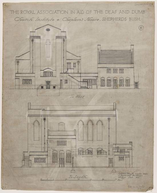 The Royal Association in aid of the deaf and dumb - architectural drawings