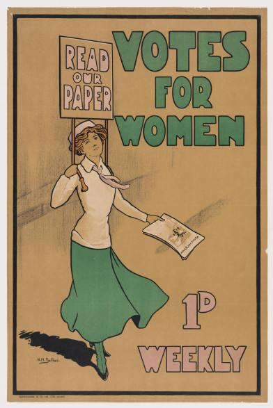 English Women's Suffrage paper via Wikipedia 1920
