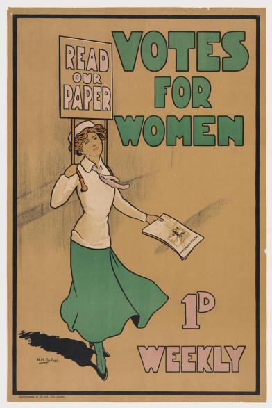 English Women's Suffrage paper via Wikipedia 1920