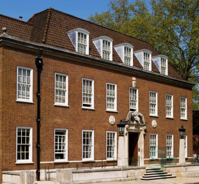 Exterior view of the Foundling Hospital from the south c Historic England DP148301