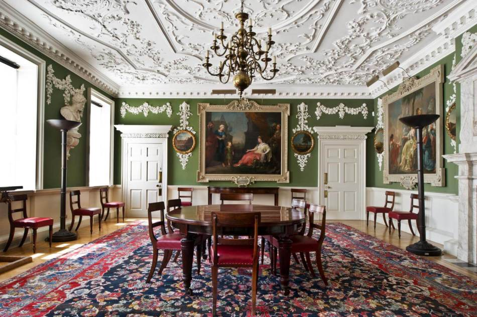 Interior view of a first-floor drawing room in the former foundling hospital c Historic England DP148287