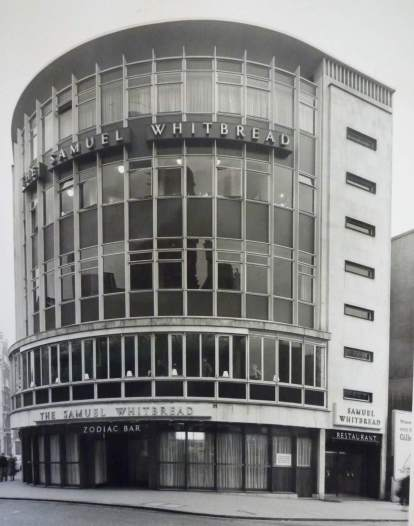 Exterior image of the Samuel Whitbread Pub in 1959
