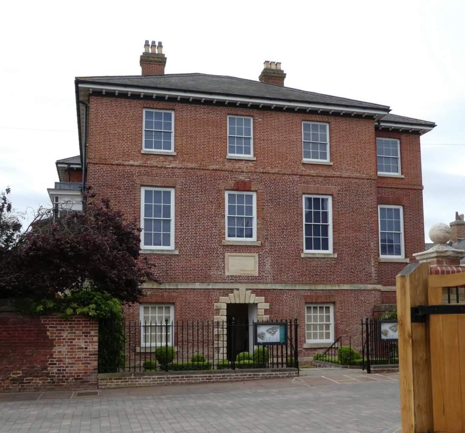 A red brick three storey building
