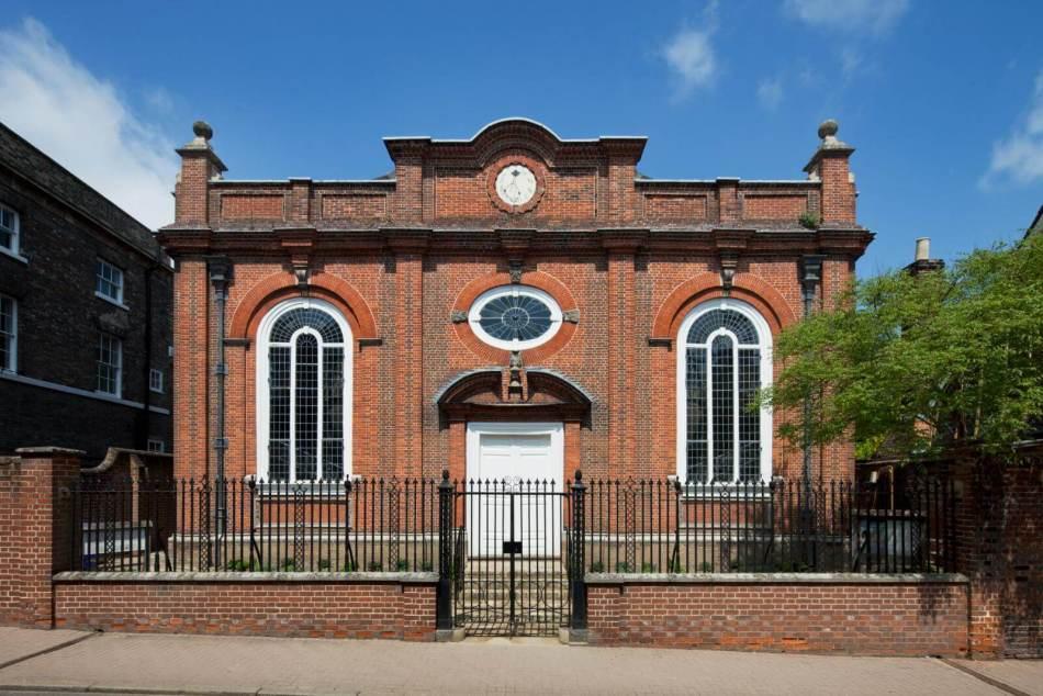 Unitarian Chapel, Churchgate Street, Bury St Edmunds, Suffolk for Chapels Book. View from west.