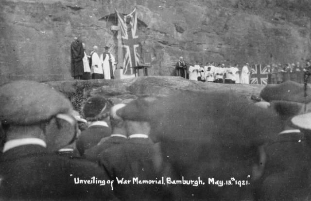 Bamburgh War Memorial unveiling