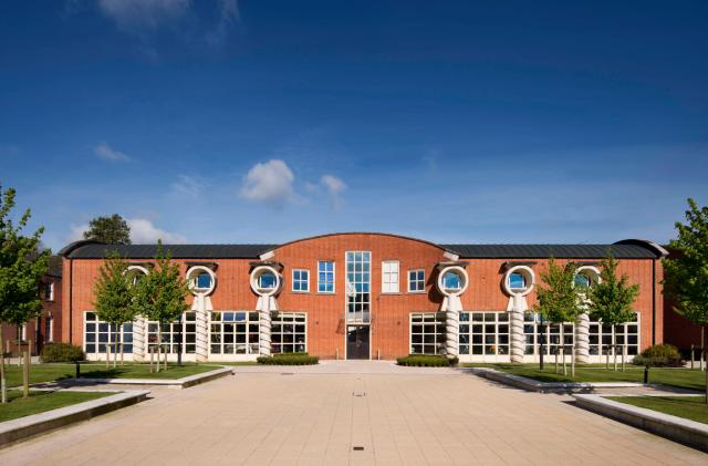 Bryanston School, Blandford, Dorset.CTD building by CZWG c Historic EnglandDP196097