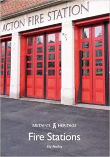 Book cover reads 'Britain's Heritage | Fire Stations | Billy Reading'