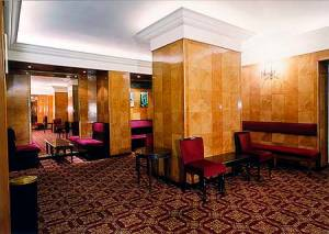 Art Deco style stalls bar in Her Majesty's Theatre, Haymarket in London