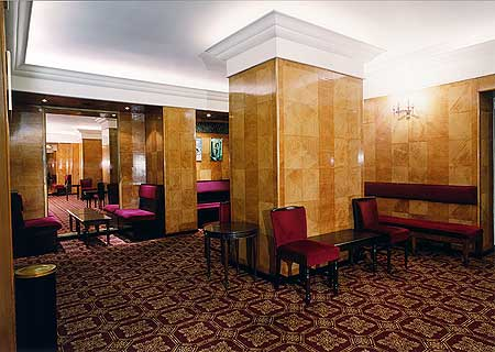 Art Deco style stalls bar in Her Majesty's Theatre, Haymarket in London
