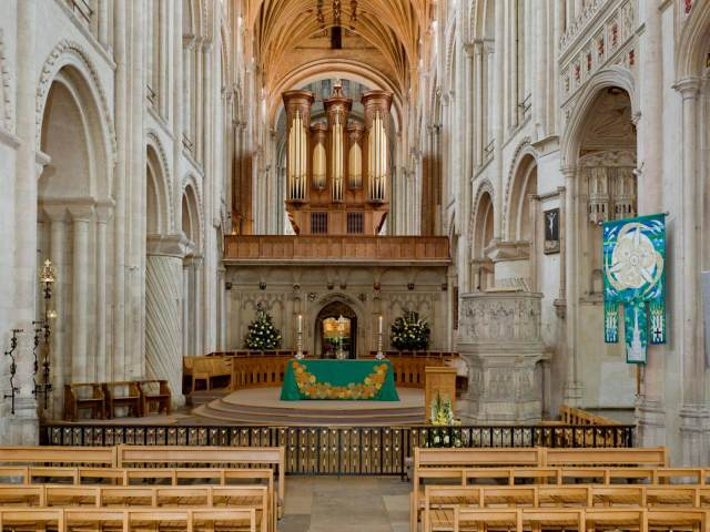 Interior of Norwich Cathedral