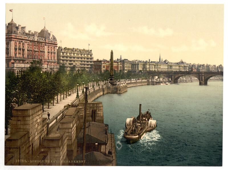 BLOG victoria embankment 1890 postcard public domain