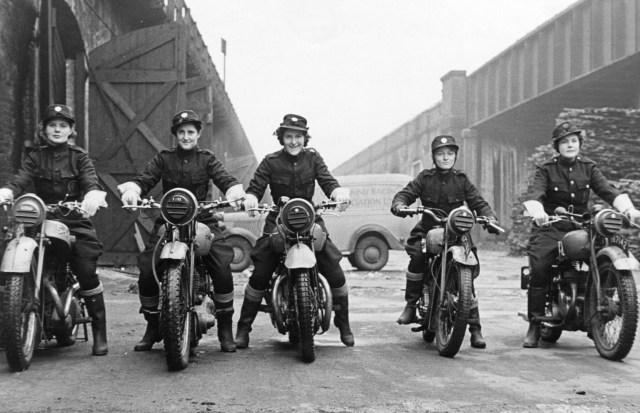 Women NFS dispatch riders in London