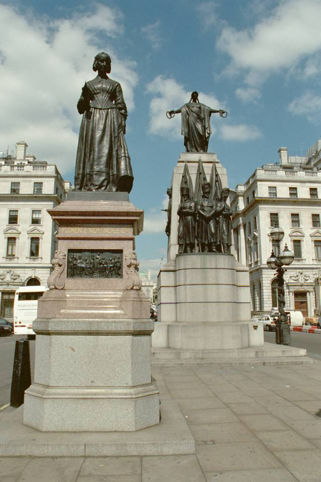 Bronze statue of Florence Nightingale, Waterloo Place, London