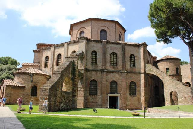 The 6th-century Basilica of San Vitale in Ravenna, Italy