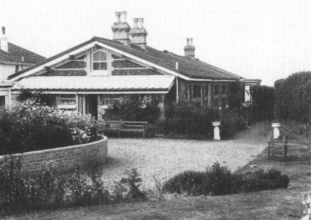 One of John Taylor's bungalows, 'Fair Outlook', formerly 'The Hut', completed by August 1874.