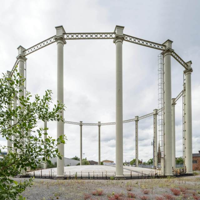 gasholder guide frame at Preston