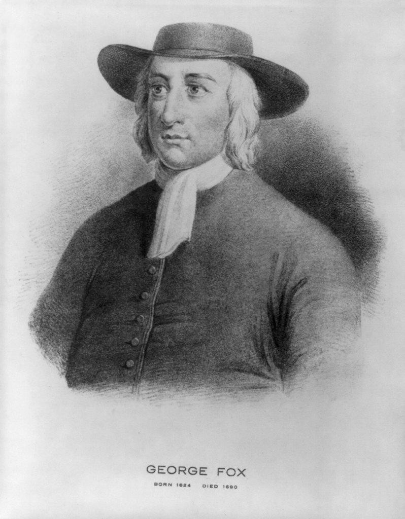 A portrait of George Fox, 1624-1690. Image via Wikimedia Commons
