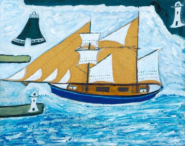 'The Blue Ship' by Alfred Wallis, painted ?c.1934