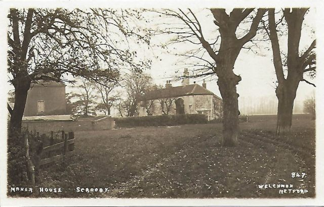 Archive postcard of Scrooby Manor House, Scrooby, Nottinghamshire