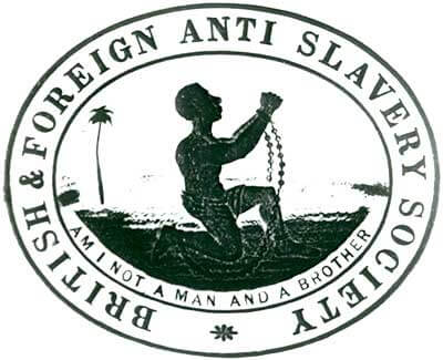 The 'Am I not a Man and a Brother' logo used by the British and Foreign Anti-Slavery Society, by Josiah Wedgewood 1787.
