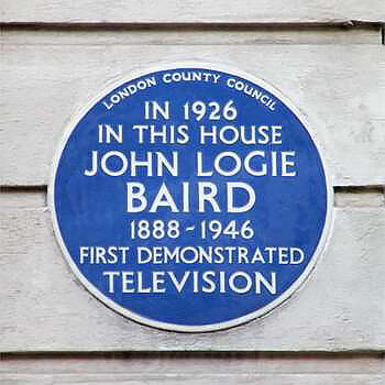 The commemorative blue plaque attached to 22 Frith Street in London's Soho © English Heritage.