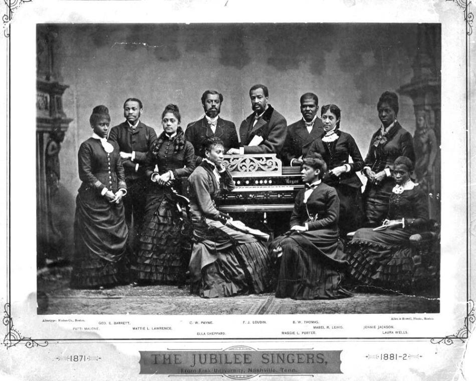 The Fisk Jubilee Singers in 1882. Image via Wikimedia Commons