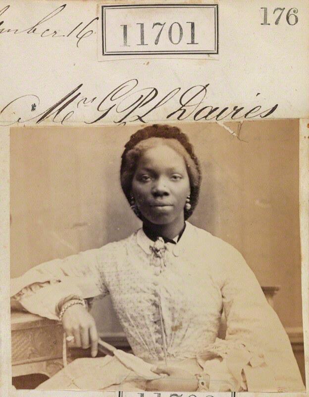 Photograph of Sarah Forbes Bonetta, September 1862. Image via Wikimedia Commons