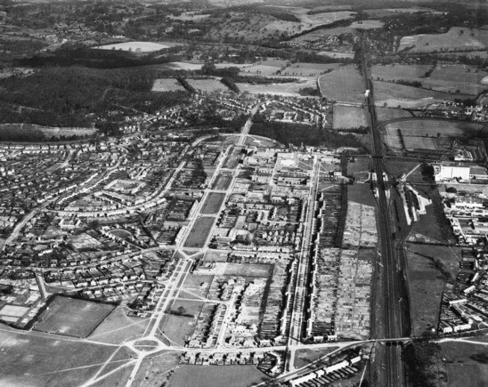 Welwyn city from above