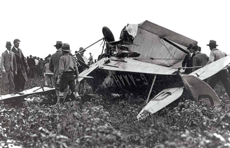 Amy's crashed airplane