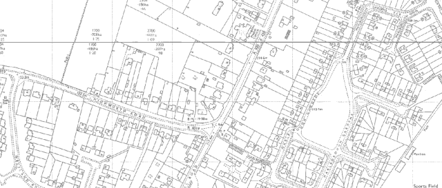 Ordnance Survey Map, 1971.
