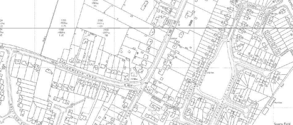 Ordnance Survey Map, 1971.