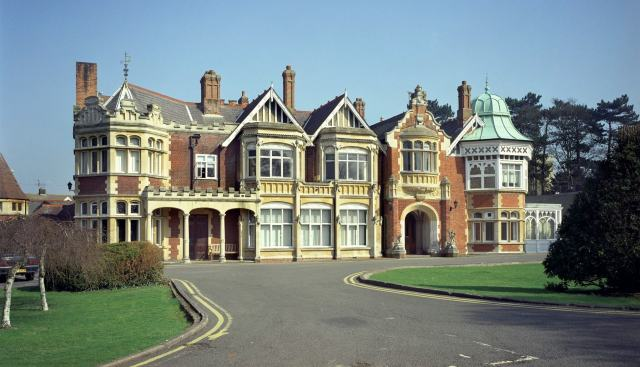 Bletchley Park Mansion, east elevation, view from east north east