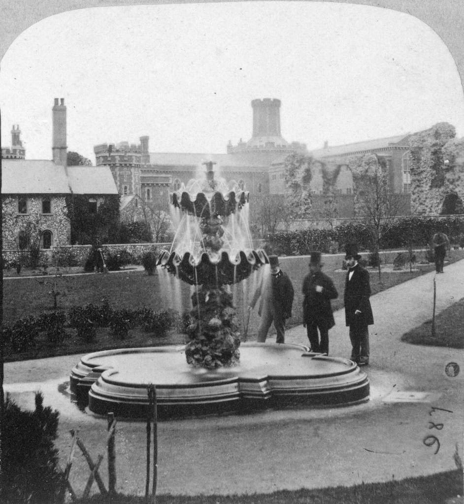 Fountain with Reading Gaol in background